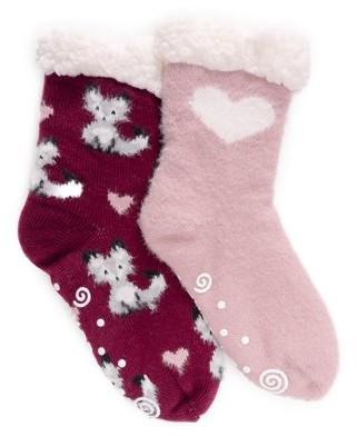 Muk Luks Cabin Cozy Sock, 2pk