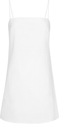 ST. AGNI Anzu Linen-Blend Mini Dress