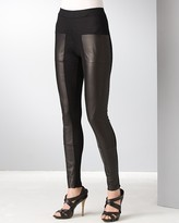 Rozae by Rozae Nichols Leather and Knit Ribbed Leggings