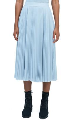 Sparkle Chiffon Pleated Midi Skirt