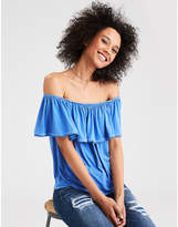 American Eagle AE Soft & Sexy Off The Shoulder Lace Trim T-Shirt
