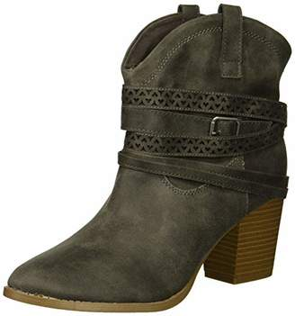 Rampage Women's Faith Love Strappy Ankle Bootie Boot