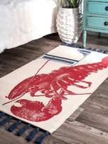 Thomas Paul Lobster Cotton Rug