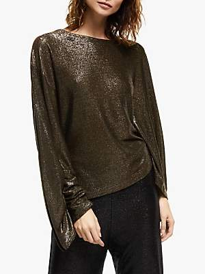 Modern Rarity Paula Knorr Drape Sleeve Top, Gold
