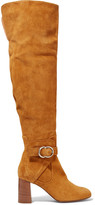 Chloé Suede Over-the-knee Boots - Tan