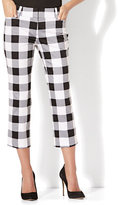 New York & Co. 7th Avenue Pant - Crop Straight Leg - Modern - Gingham