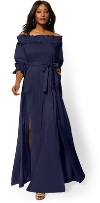 New York & Co. Off-The-Shoulder Maxi Dress