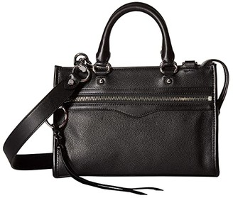Rebecca Minkoff Micro Bedford Zip Satchel (Black) Satchel Handbags