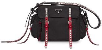 Prada Studded Shoulder Bag