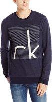 Calvin Klein Jeans Men's Liner Box Crew Neck Sweatshirt