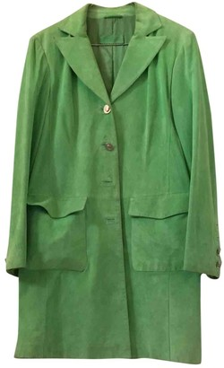Non Signã© / Unsigned Oversize Green Suede Trench coats