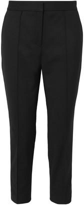 By Malene Birger Santsi Cropped Stretch-cotton Blend Cady Slim-leg Pants