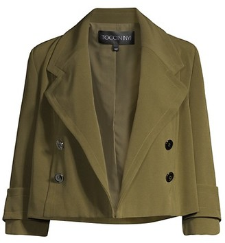 Toccin Cropped Double-Breasted Jacket