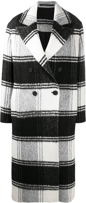 AllSaints Lottie checked double-breasted coat