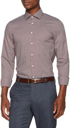 Seidensticker Men's Slim Langarm mit Kent-Kragen Bugelfrei Kariert Business Shirt