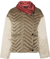 Isabel Marant Hector Padded Silk-shell Jacket - Beige