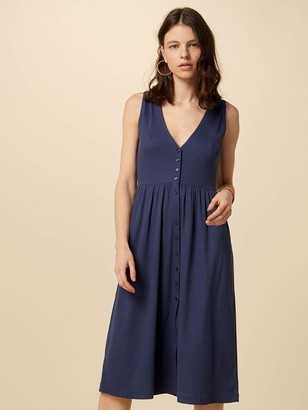 Sessun Keel Jersey Dress In Blue Marlin - XS