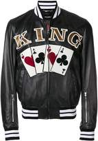 Dolce & Gabbana King playing cards bomber jacket
