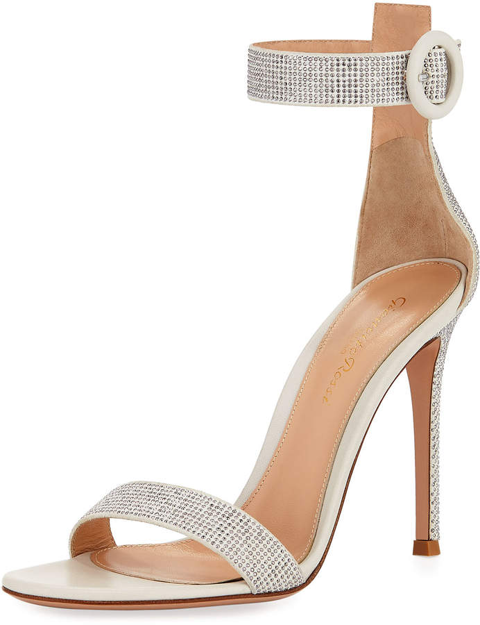 Gianvito Rossi Studded Leather Ankle-Strap Sandal