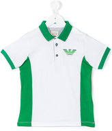 Armani Junior logo print polo shirt - kids - Cotton - 4 yrs