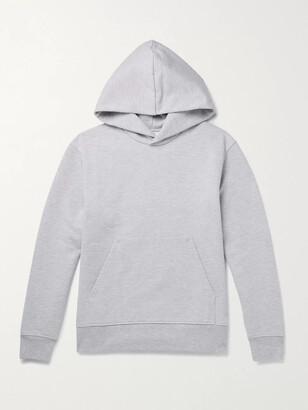 Acne Studios Forres Melange Fleece-Back Cotton-Blend Jersey Hoodie