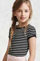 Forever 21 FOREVER 21+ Girls Striped Bodysuit (Kids)