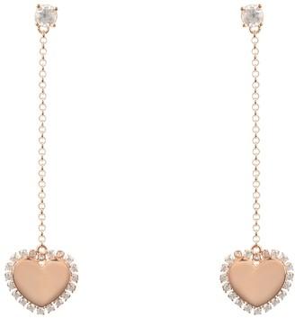 Latelita Heart Mirrored Drop Earrings Rosegold