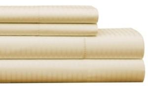 Pointehaven 450 Thread Count Dobby Cotton King Sheet Set Bedding