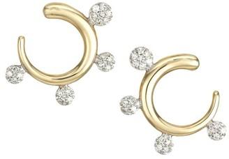 Phillips House Infinity 14K Yellow Gold & Diamond Fan Earrings