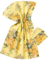 April Cornell Yellow-Blanche Tea Towel