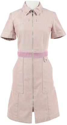 Hermes Pink Cotton Dresses