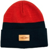 Asos Beanie Hat in Colour Block with Patch