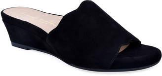 Bettye Muller Seema Suede Demi-Wedge Slide Sandals