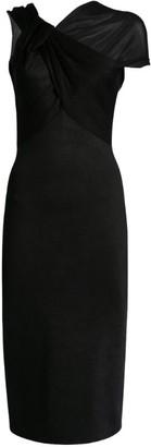 Victoria Beckham Twist Drape-Detail Dress