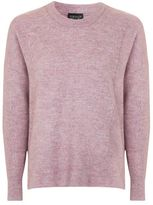 Topshop Pointelle rib cosy crew jumper