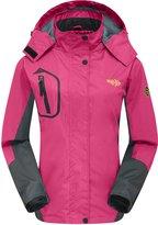 Wantdo Women's Breathable Athletic Outdoor Waterproof Rain Jacket