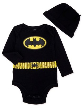 Batman Baby Boy Bodysuit and Hat Outfit Set, 2-Piece