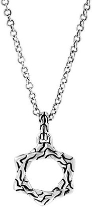 John Hardy Classic Chain Sterling Silver Star of David Pendant Necklace