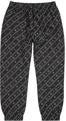 Fendi Karligraphy FF logo shell sweatpants
