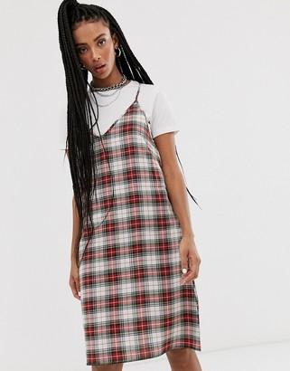 Cheap Monday Rite check slip dress-Red