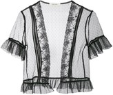 Three floor Willow lace trim tulle jacket