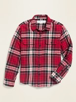 Old Navy Built-In Flex Flannel Pocket Shirt for Boys