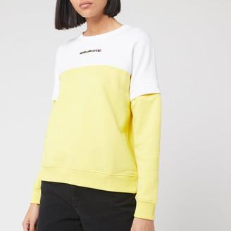 Karl Lagerfeld Paris Women's Colour Block Cutout Sleeve Sweatshirt