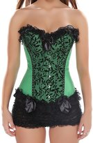 Ya Lida Floral Lace Steel Buckle Corsets With G-string 4X-Large