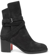 Christian Louboutin Karistrap 70 Suede Ankle Boots - IT42