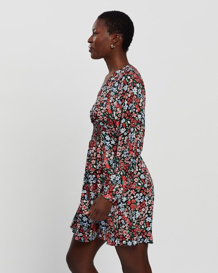 Thumbnail for your product : Only Women's Multi Long Sleeve Dresses - Tamara LS Printed Dress - Size M at The Iconic