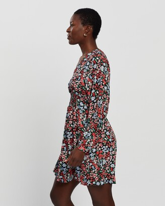 Only Women's Multi Long Sleeve Dresses - Tamara LS Printed Dress - Size M at The Iconic