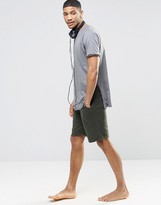 Asos Loungewear Jersey Shorts In Khaki
