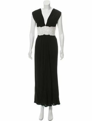 Naeem Khan Sleeveless Evening Dress Black