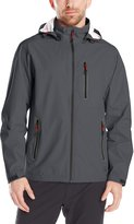 Hawke & Co Men's Seam-Sealed Water Resistant Tech Rain Jacket with Hood